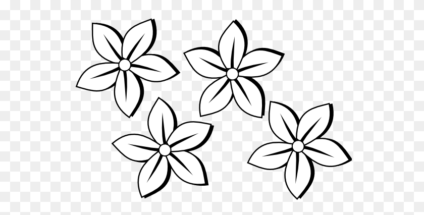 Flowers Clip Art Black And White Look At Flowers Clip Art Black - Flower Wreath Clipart Black And White