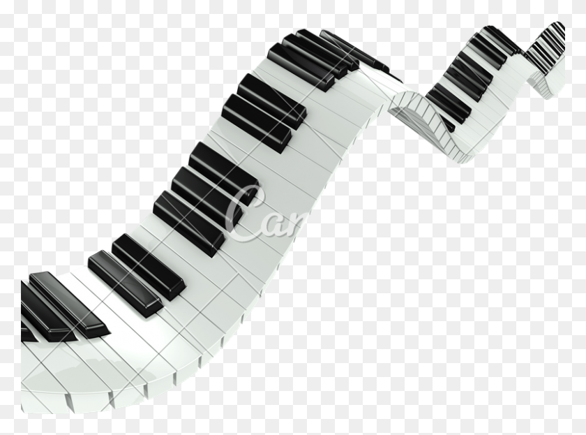 Fluid Piano Keyboard - Piano Keyboard PNG