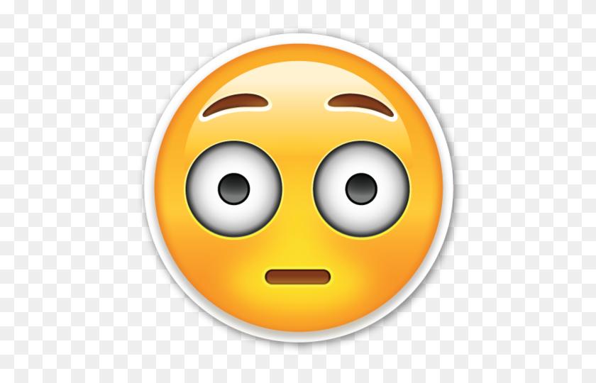 Flushed Face Smiley Emoji, Emoticon And Emoji Stickers - Shocked Emoji PNG