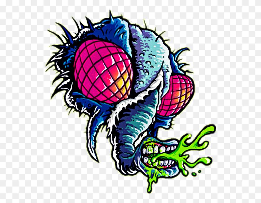 Fly Mosca Sticker Toxic Art Zombie Popart Urban Zombie - Urban Community Clipart