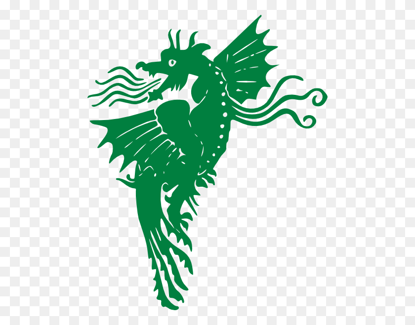 Flying Green Dragon Clip Art - Flying Dragon Clipart