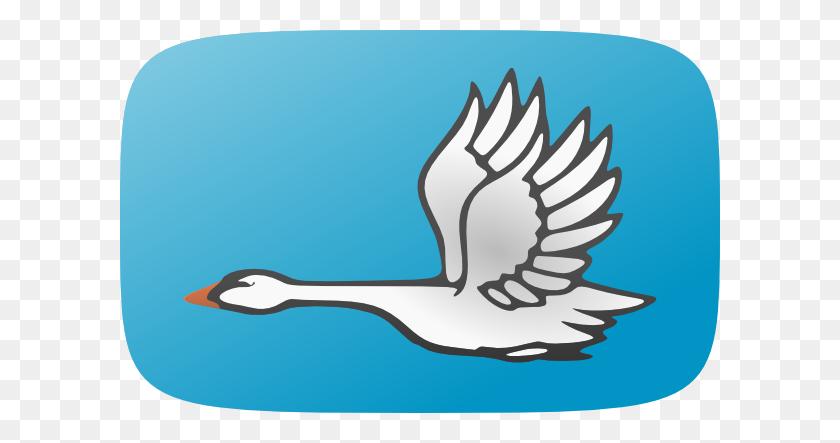Flying Swan Clip Art - Swan Clipart