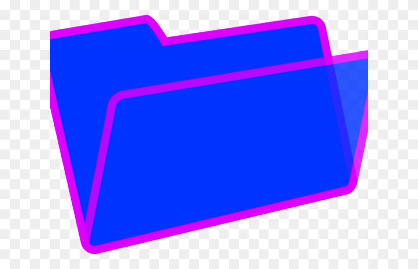 Folder Clipart Purple Folder - Blue Folder Clipart