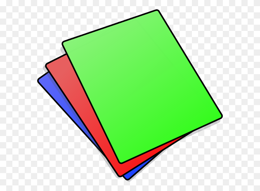 600x558 Folders Clipart Messy - Graded Paper Clipart