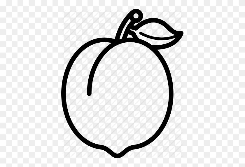 Food, Fruit, Fruits, Peach, Peaches Icon - Peach Clipart