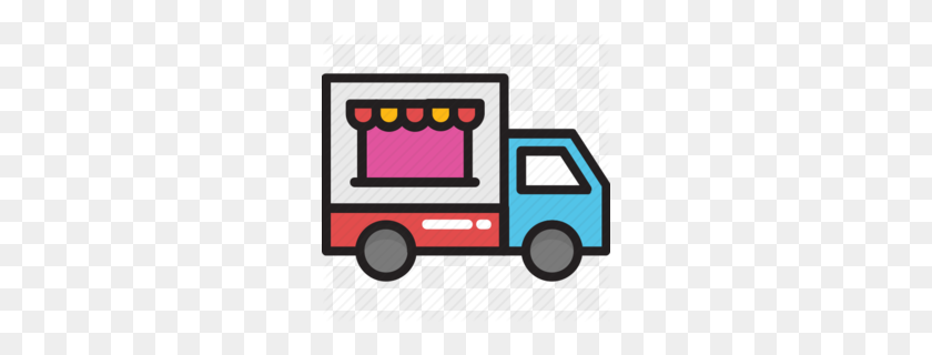 Food Truck Clipart - Classic Truck Clipart