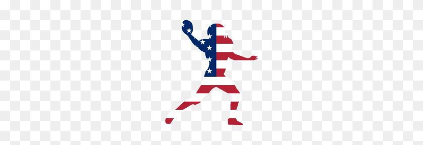 Football American Flag - American Flag PNG