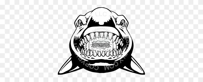 Football Clipart Shark - Shark Head Clipart