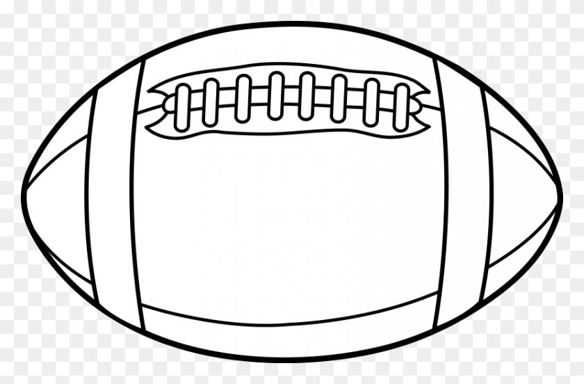 Football Field Football Laces Clip Art - Football Border Clipart