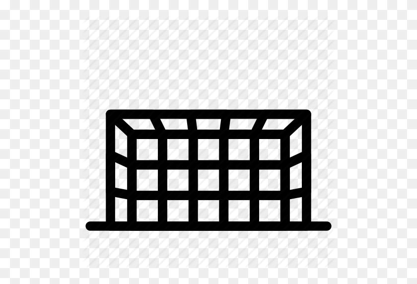 Football, Game, Gate, Goal, Net, Post, Soccer, Sport Icon - Soccer Goal Clip Art