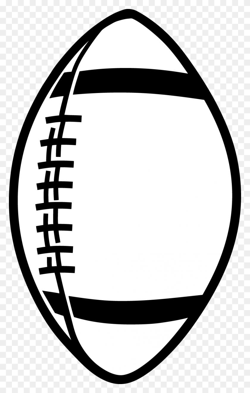 Football Outline Template - Missouri Clipart