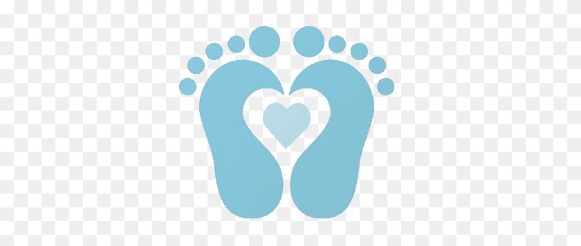 Footprint Clipart Infant - Pink Heart Clipart