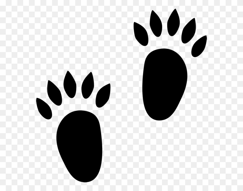 Footprints Clipart Hedgehog, Footprints Hedgehog Transparent Free - Footprints Clipart Black And White