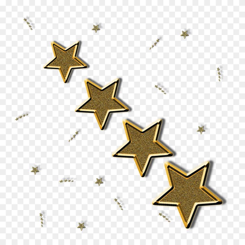Forgetmenot Golden Stars - Golden Stars PNG