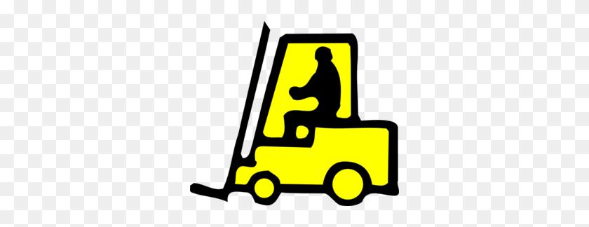 Forklift Sign Clip Art - Logistics Clipart
