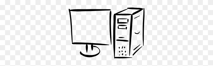 Fortran Minimalist Monitor And Computer Clip Art Free Vector - Computer Clip Art Free