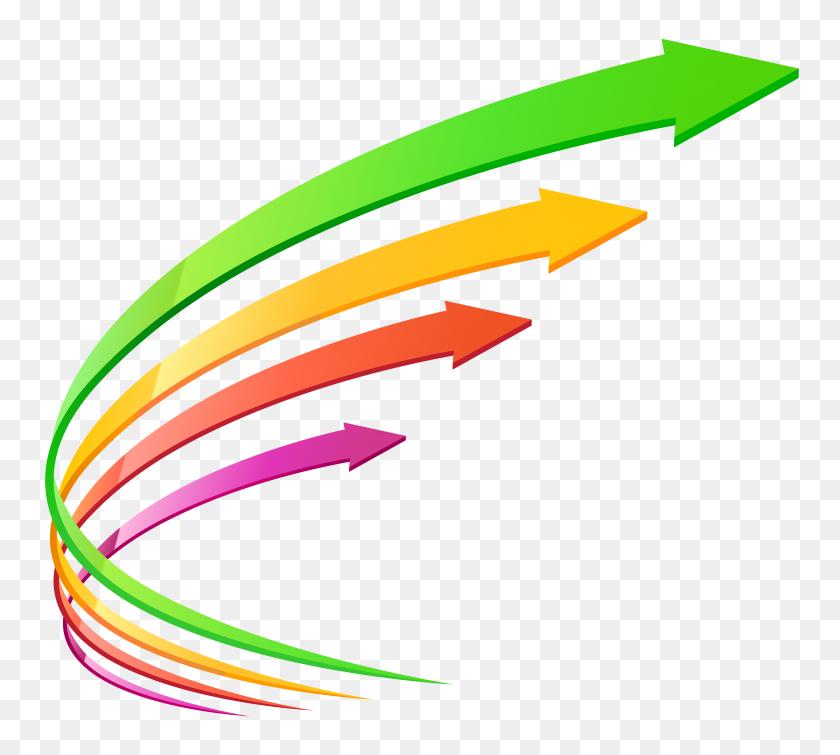 8000x7138 Four Arrows Transparent Png Clip Art - Arrow Transparent PNG