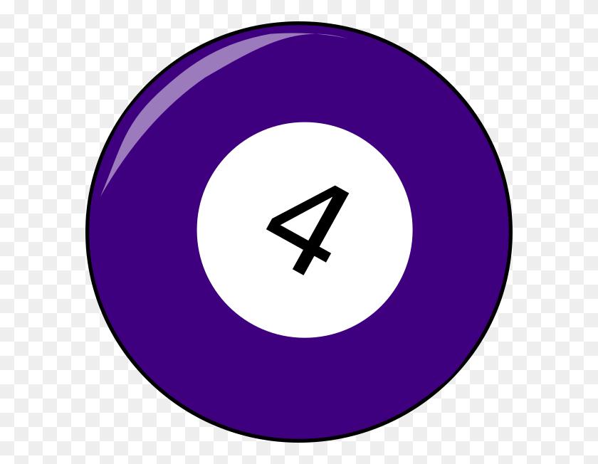 600x592 Four Billiard Ball Clip Art - T Ball Clip Art