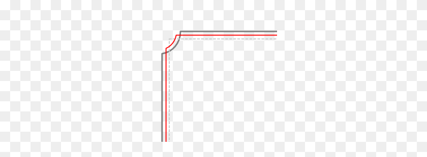 Four Corner Border Graph, Four Angle Frame, Decorate, Shading - Corner Border PNG