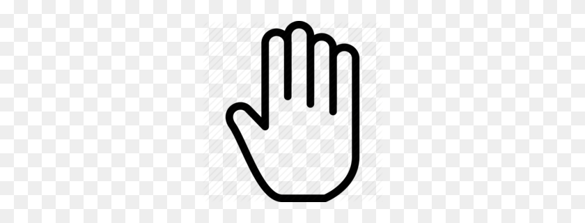 Four Fingers Up Clipart - Four Clipart