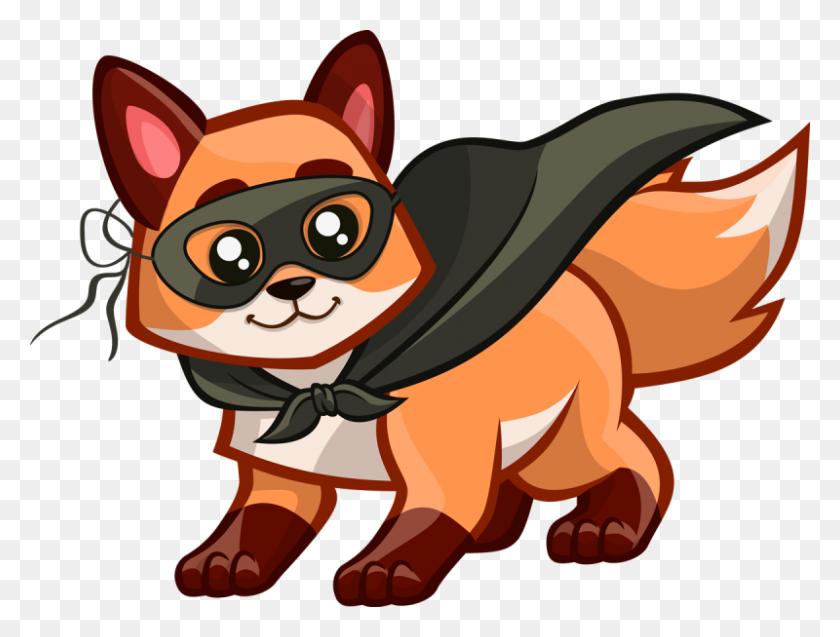 Fox Black And White Fox Clip Art Free Clipart Gif - Fox Clipart PNG