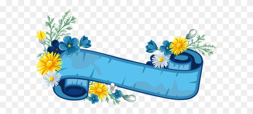 Frame And Border Frame, Banner - Spring Flower Border Clipart