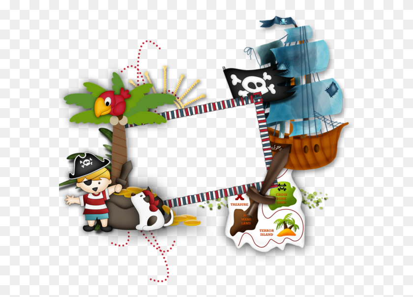 Pirate Border Clipart - Clip Art Bay