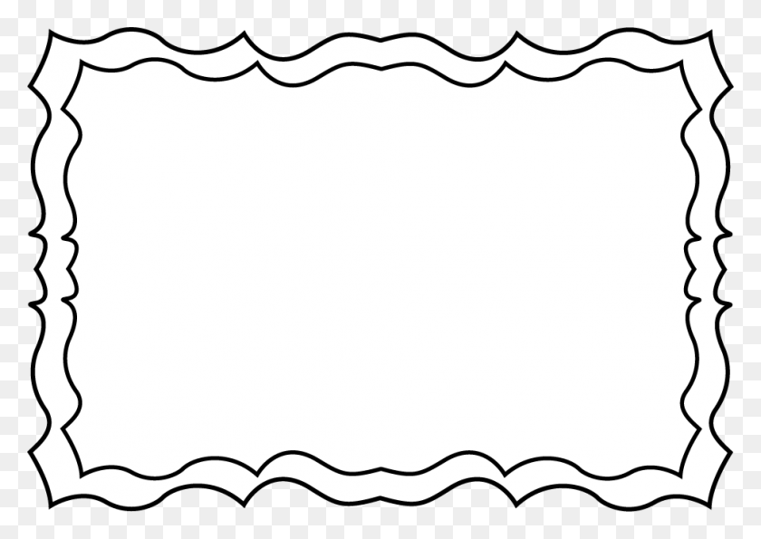 Frame Clip Art Black And White - Pretty Border Clipart