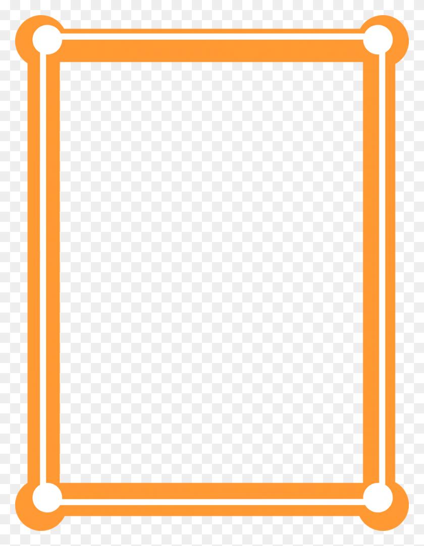 Frame Clipart Orange - Free Stock Clipart