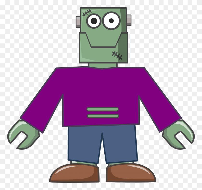 Frankenstein Robot Vector Clipart Image - Frankenstein PNG