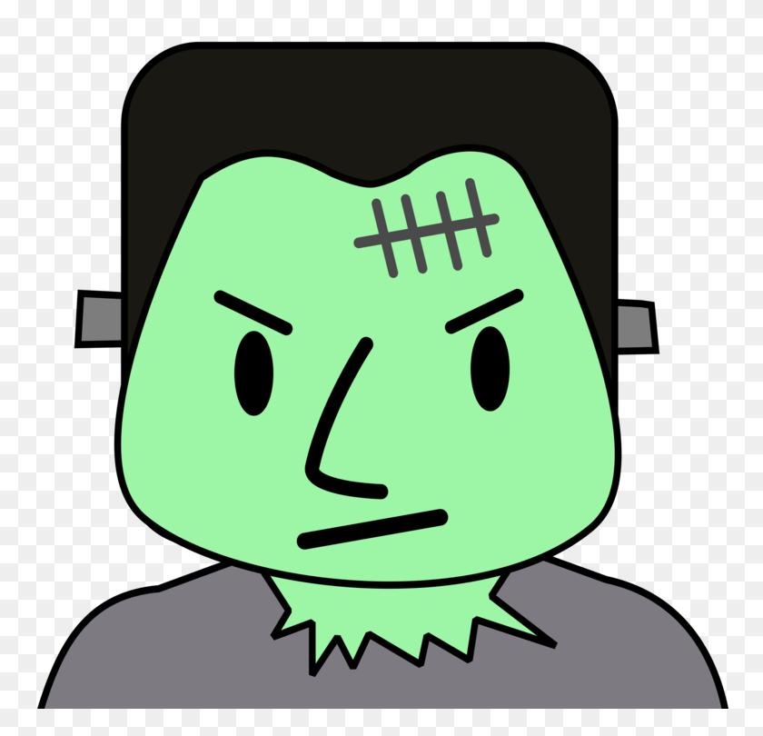 Frankenstein's Monster Cartoon Document - Frankenstein Clipart Black And White