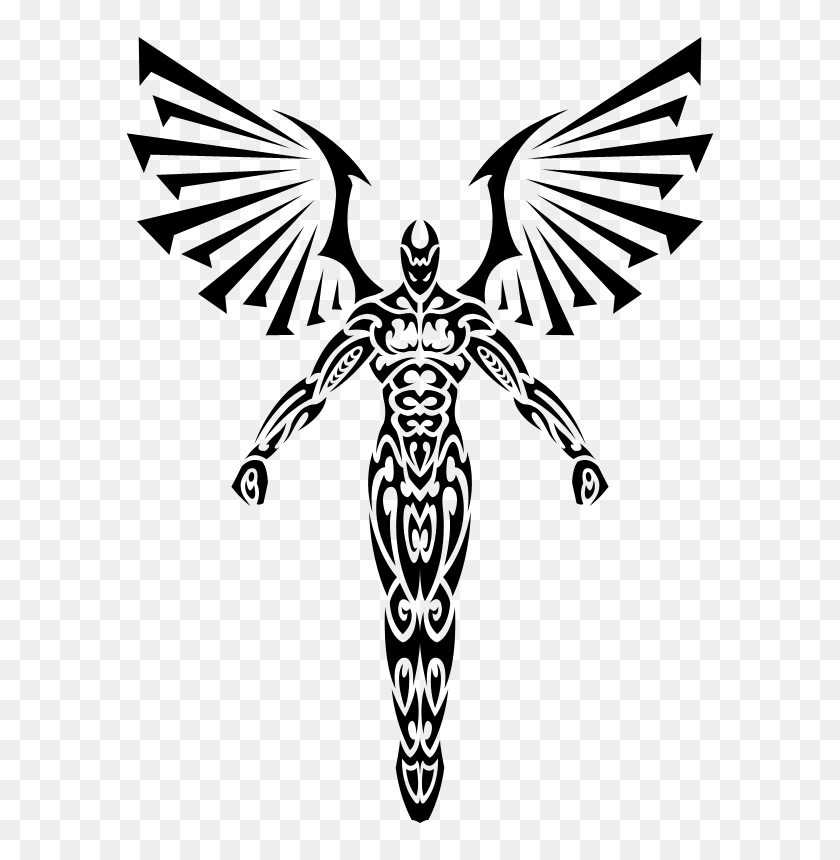 Free Angel Illustrations - Angel Clipart Black And White