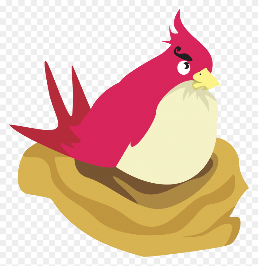 Free Angry Birds Clipart On Clip Art Crazy Bird - Yellow Bird Clipart