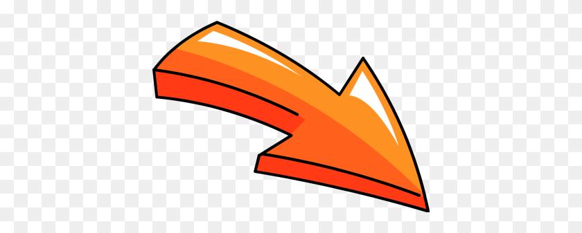 400x277 Free Arrow Blue Outline Left Clipart - Arrow Outline Clipart