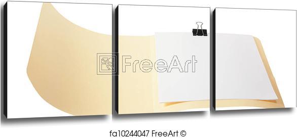 Free Art Print Of Manila Folder Manila Folder On White Background - Manila Folder PNG