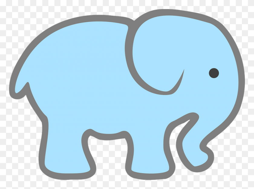 Free Baby Elephant Clip Art - Pink Baby Clipart
