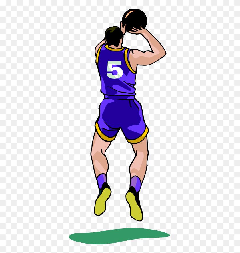 Free Basketball Player Making A Jump Shot Vector Clip Art Image - Making Clipart