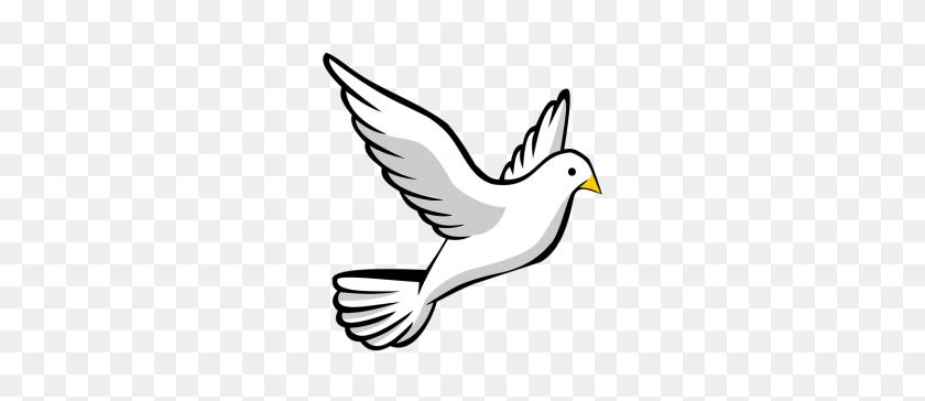 White Large Print Religious Dove