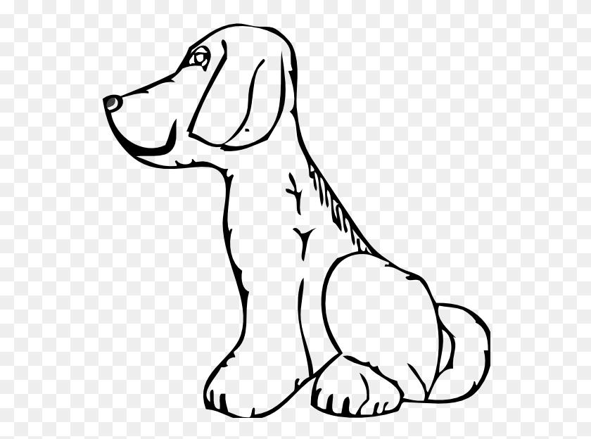 Free Black White Dog Clipart - Free Dog Clip Art
