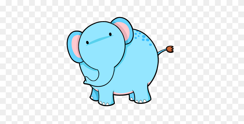 Free Cartoon Baby Elephant Images - Baby Elephant Clipart Baby Shower