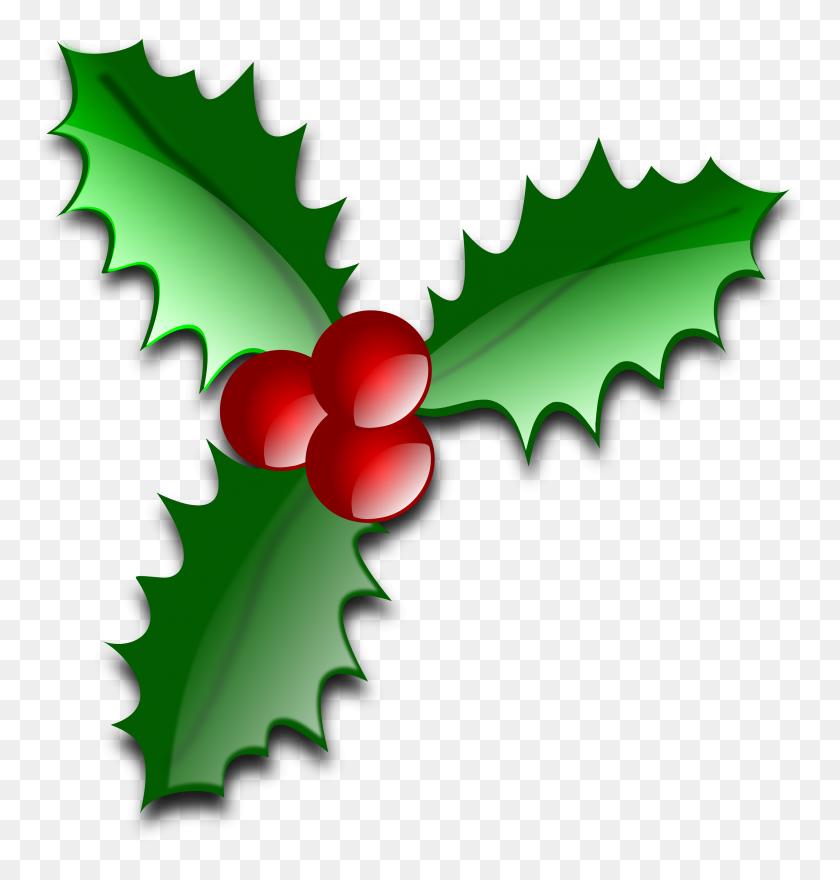 Free Christmas Clip Art Holly Christmas Holly Clipart With Regard - Christmas Tree Clipart Transparent