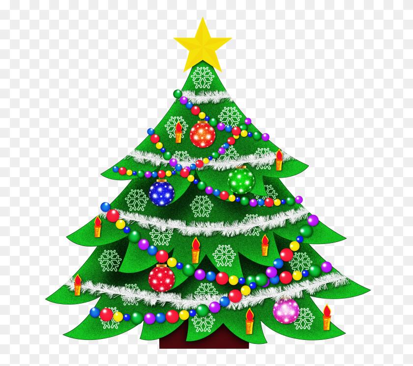 Free Christmas Tree Clip Art - Simple Snowflake Clipart