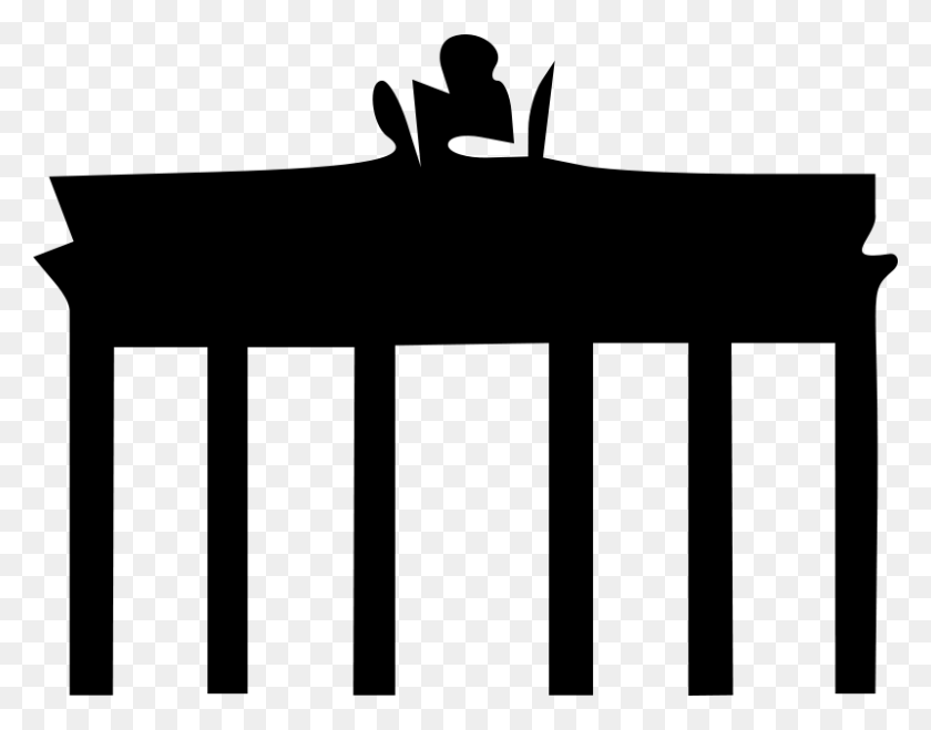 800x615 Free Clip Art Brandenburger Tor - Monument Clipart