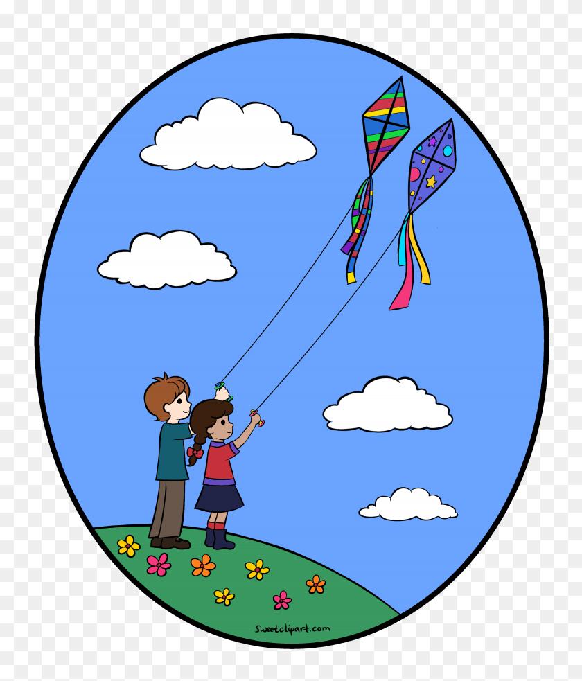 Free Clip Art Kites Flying - Fisherman Clipart