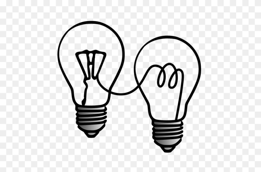 Free Clip Art Open Innovation - Light Bulb Clipart Black And White