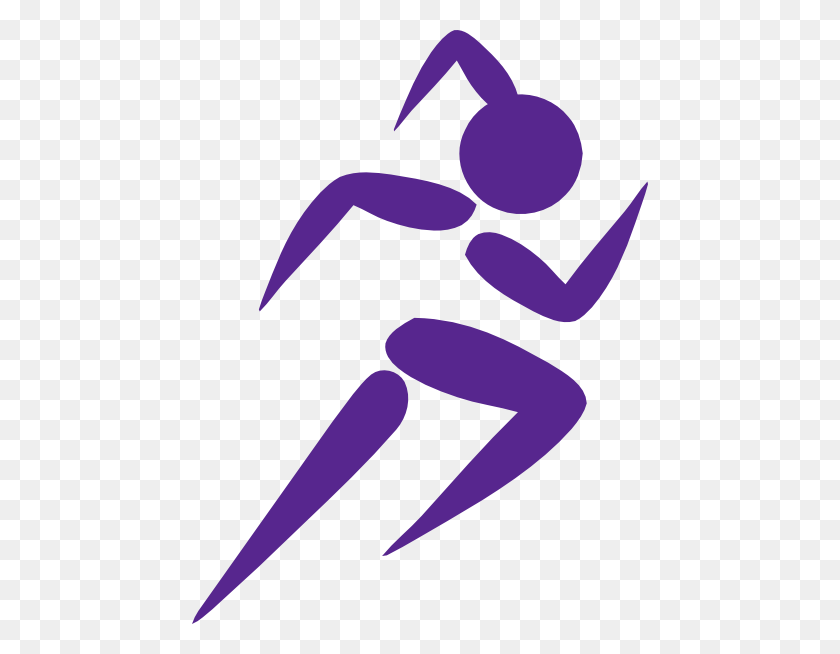 Free Clip Art Running Woman Girl Running Purple Clip Art Girl - Person Eating Clipart