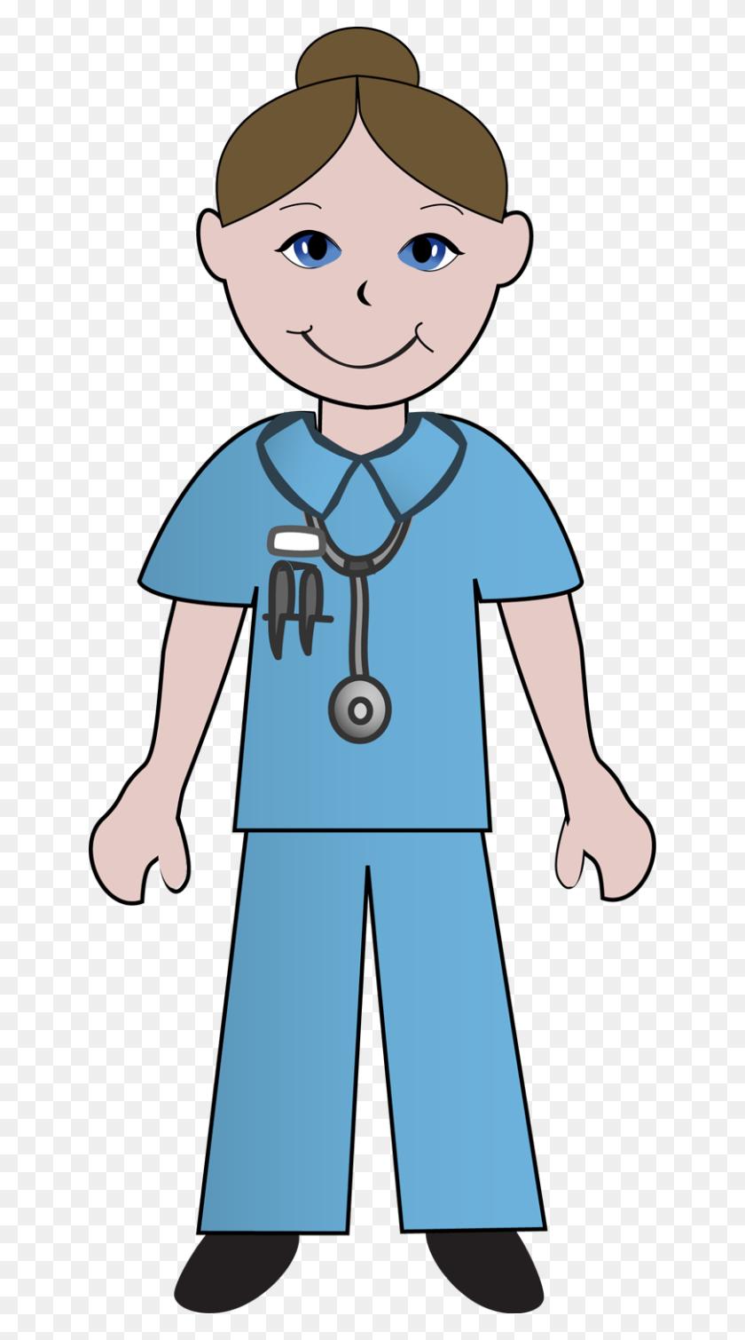 Free Clip Art School Nurse Clipart Image - School Girl Clipart