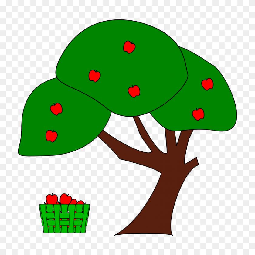 Free Clipart Apple Tree Sutrannu Free Apple Tree Clipart