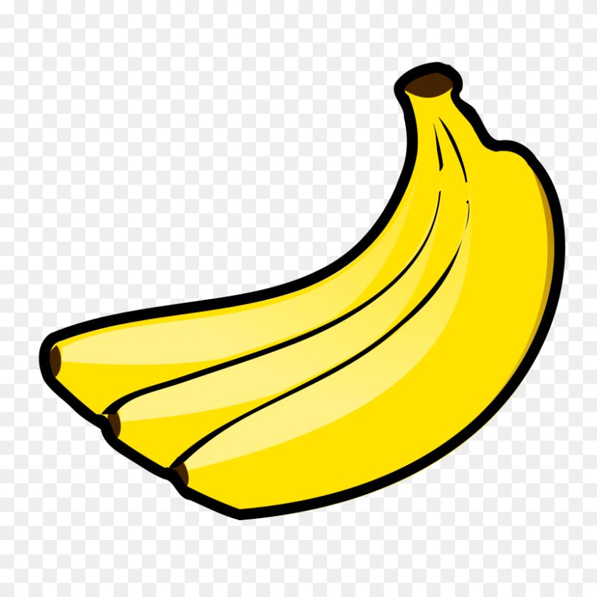 Free Clipart Bananas Nicubunu - Banana Bread Clipart