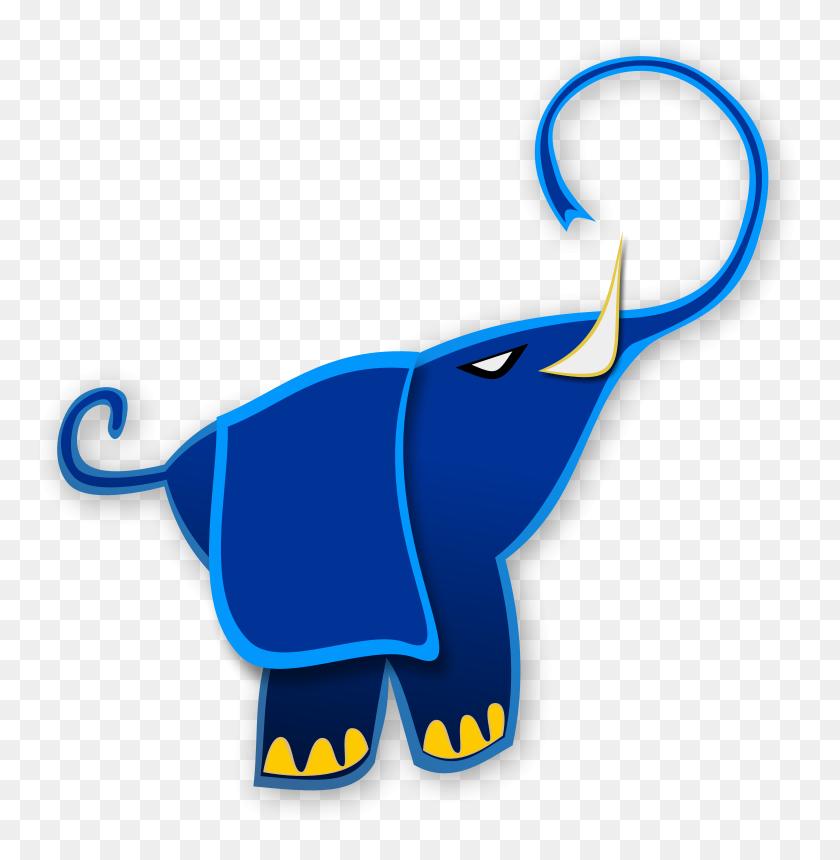Free Clipart Blue Elephant - Blue Elephant Clipart